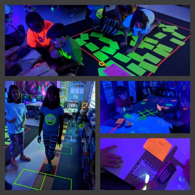 Math instruction in glowing colors
