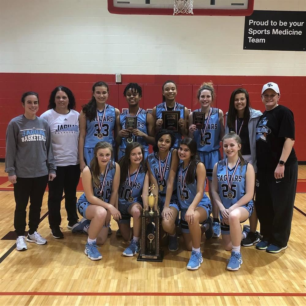 8th Grade Lady Jags Finish the Season #1 in Metro South Tournament