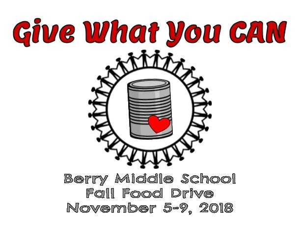 Berry Hosts Canned Food Drive