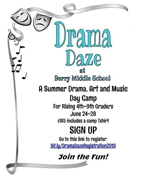 Drama Daze this summer at Berry!