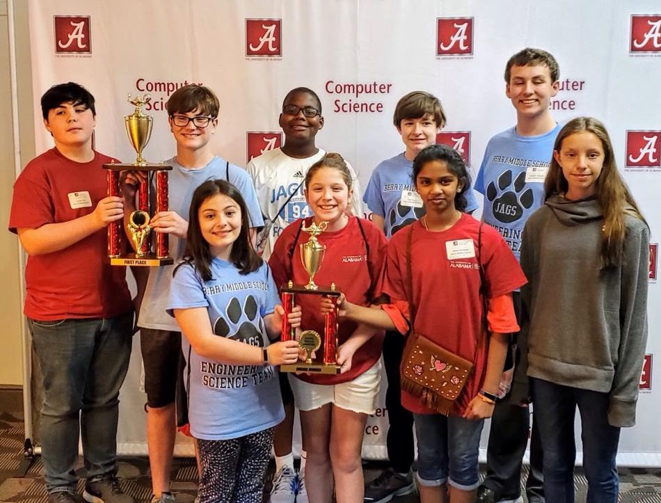 Robotics Team wins big at University of Alabama Tournament this weekend!
