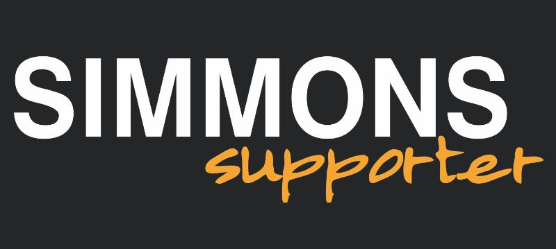 This is a picture of the Simmons Supporter logo.