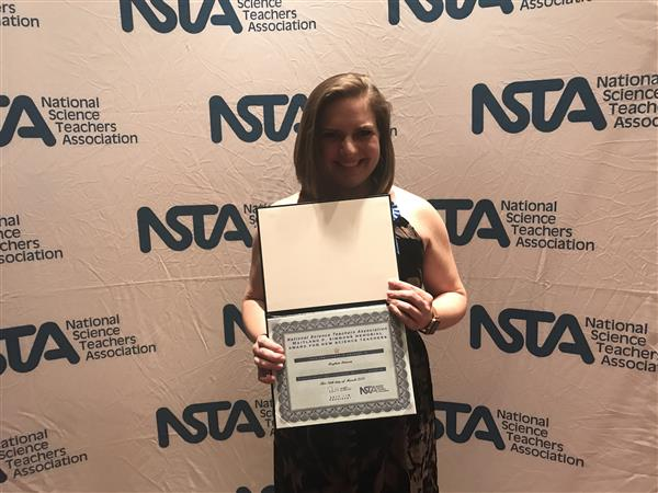 Ms. Denson wins NSTA Award