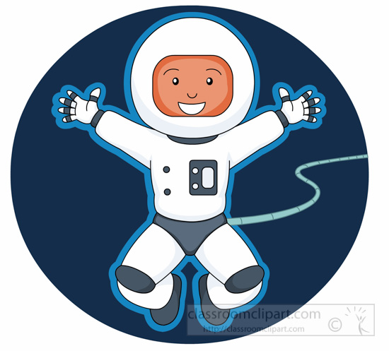 astronaut in space clip art