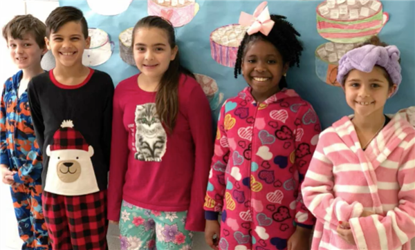 Students on PJ Day