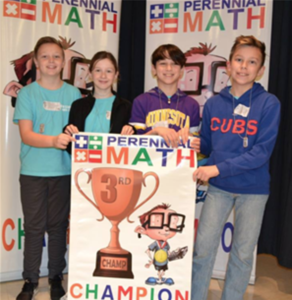 Photo of students a math team tournament