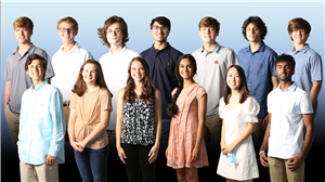 group photo of Spain Park High School 2020 National Merit Semifinalists