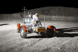 Lunar Rover on Moon